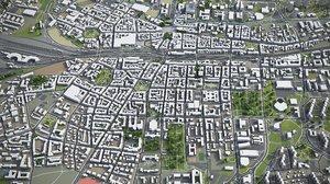 katowice surrounding - 3D model