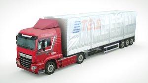 3D generic semi-truck 946 model
