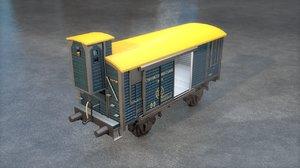 3D ciwl boxcar na 1259 model