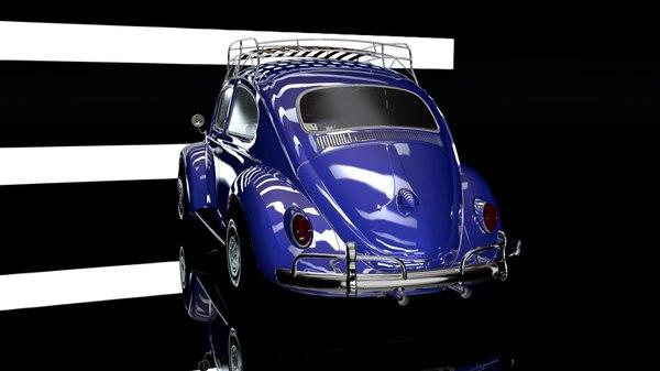 3D beetle 1966 model
