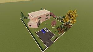 residential house revit 3D model