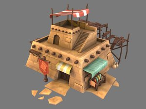stylized fabric shop 3D