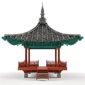 korean gazebo 3D model