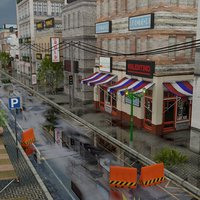 REALISTIC URBAN CITY BUILDING PACK Low-poly