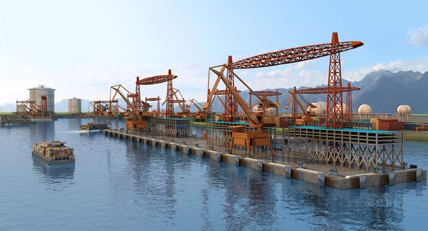 port terminal 3D