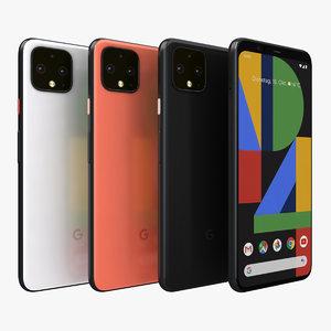 3D google pixel 4 color