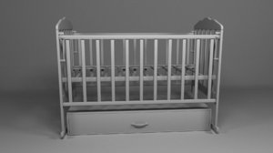 child children cradle 3D model