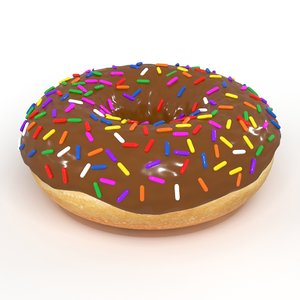 3D chocolate donut