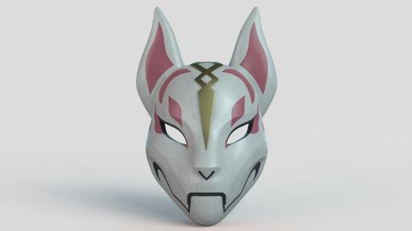 3D kitsune mask