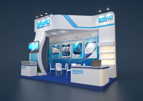 exhibition stand 6x3m model