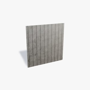 metal walling sheet 3D