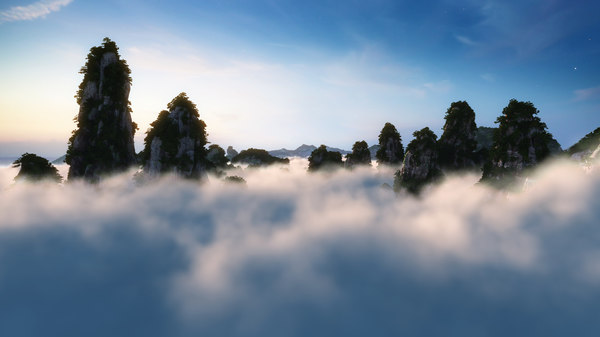 cloud mountain 3D model