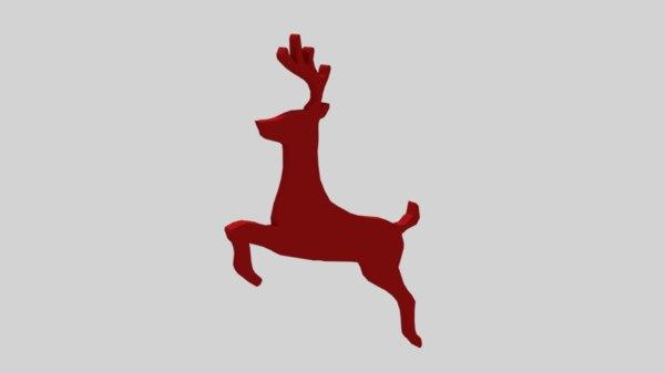 reindeer decorative object model