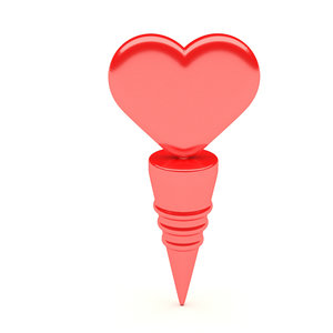 heart bottle stoper 3D model