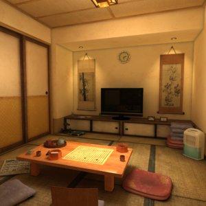3D japanese residence model