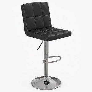3D model modern leather stool