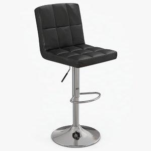 3D model modern leather stool