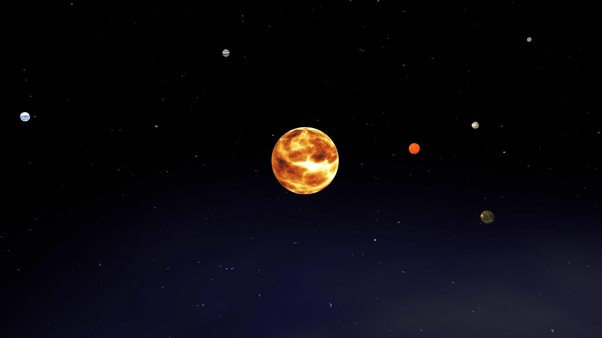 trappist planets orbit 3D model
