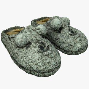 3D slippers 22 model
