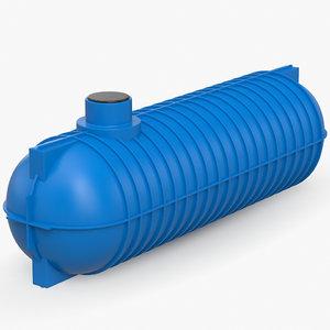 3D septic tank model