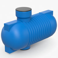 septic tank 3D model
