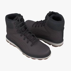 puma boots winter 3D