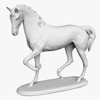 3D porcelain horse