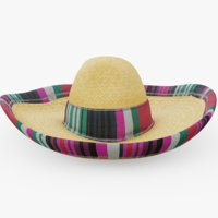 sombrero hat fashion 3D model