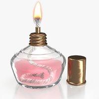 3D alcohol lamp flame