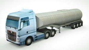 generic semi-truck 694 3D