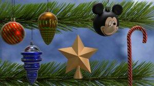 christmas balls toys 3D model