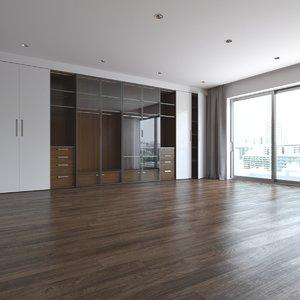 3D realistic modern interior model
