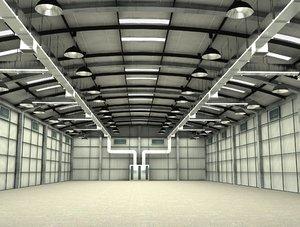 hangar interior 3D