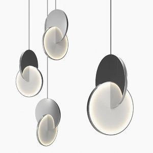 3D eclipse pendant light chandelier model
