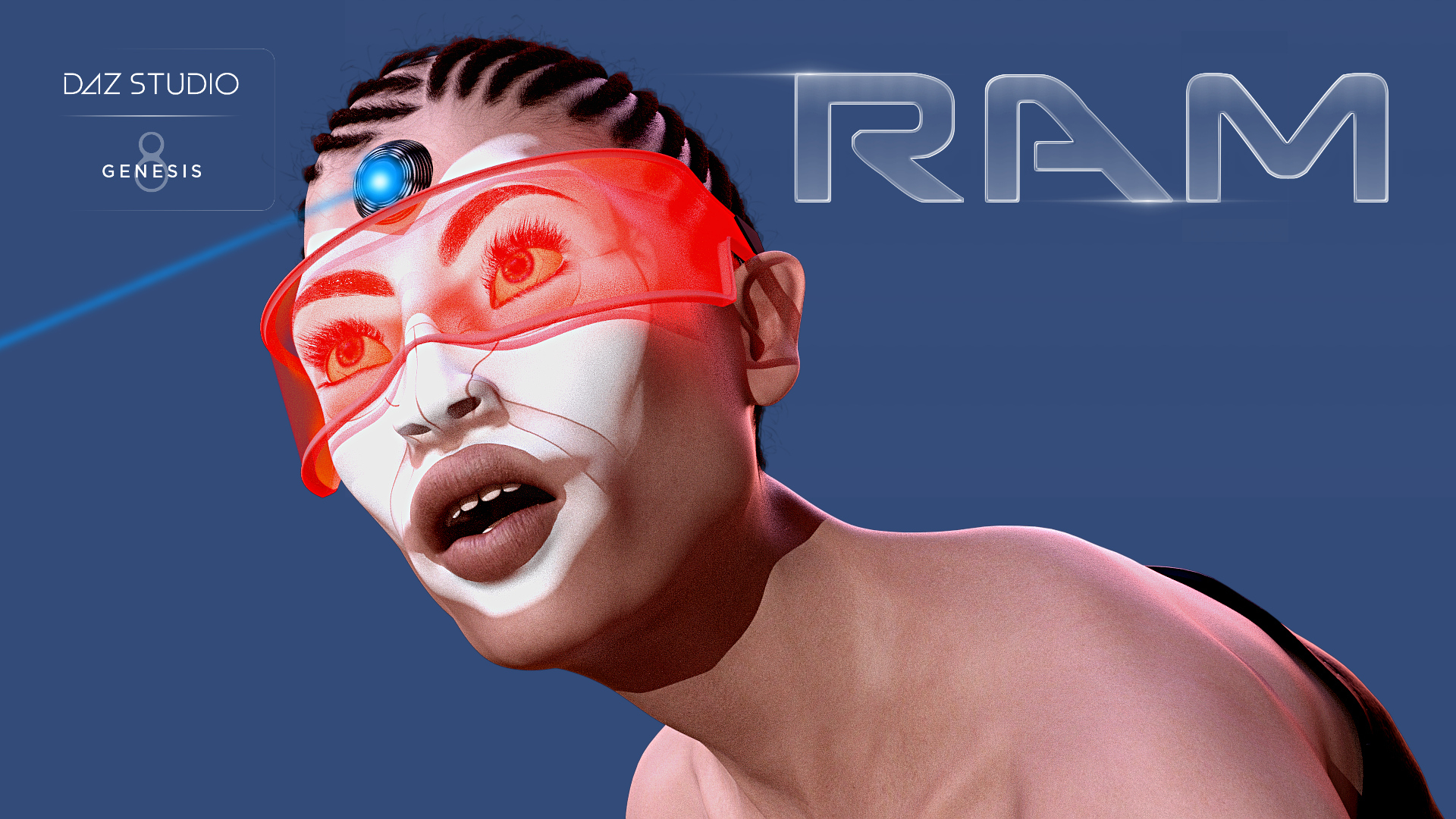 ram female genesis 8 3D model