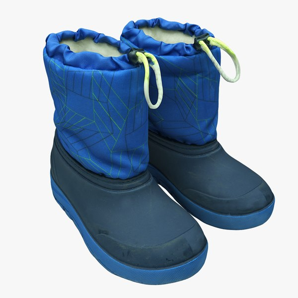 scan boots 3D model