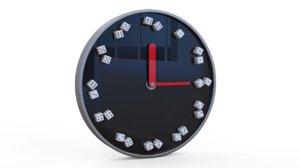 3D model dice clock