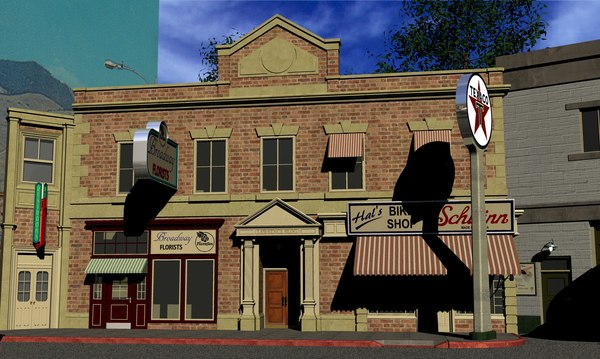 3D hill valley lawrence building