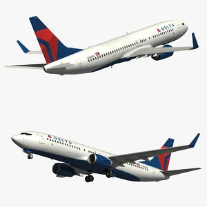 boeing delta airlines 3D