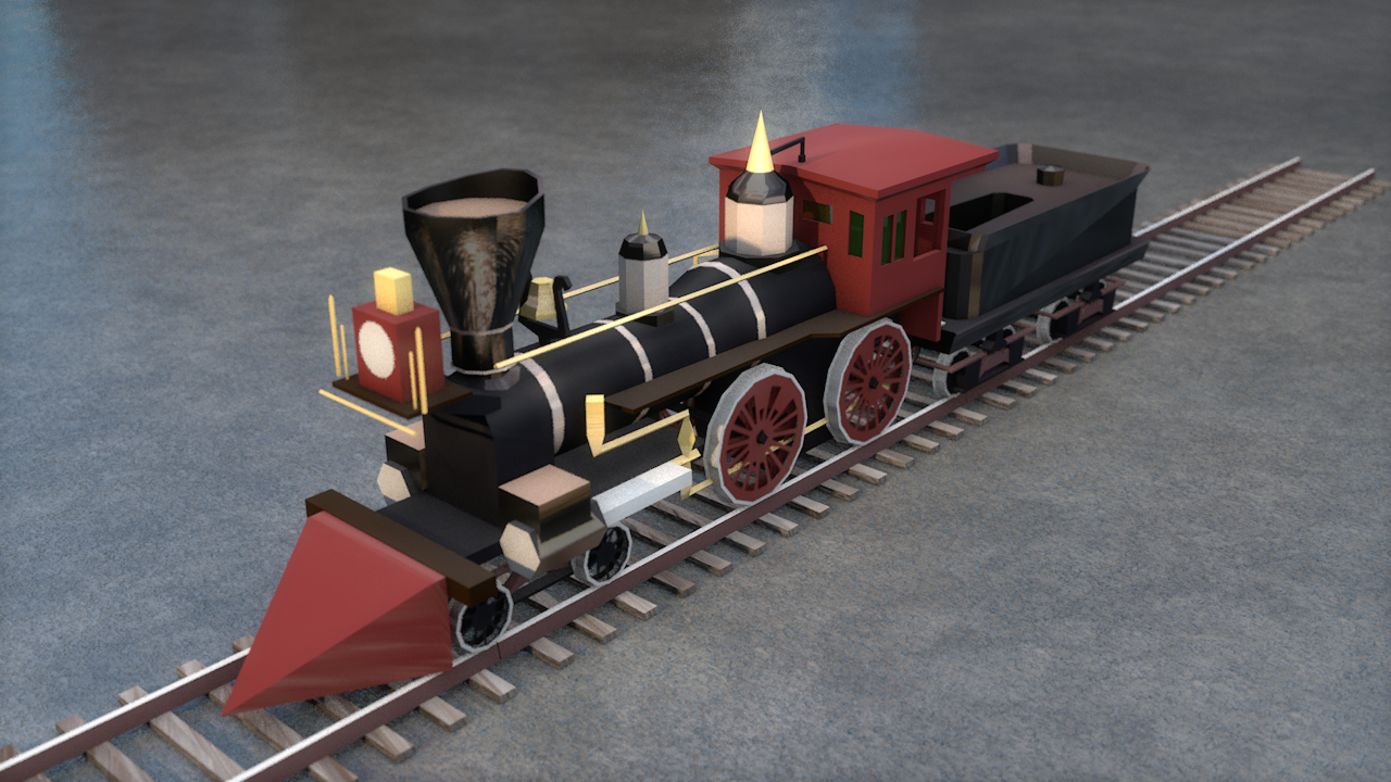 3D general steam locomotive