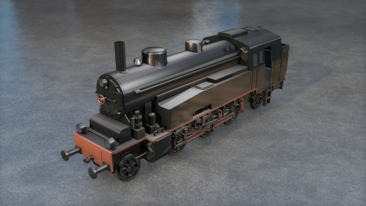 steam germany locomotive vlc 3D