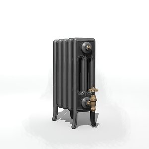 3D old style radiator model