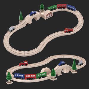 3D toy railway model
