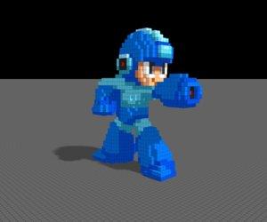 voxel mega man 3D