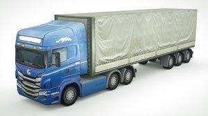 generic semi-truck 702 3D model