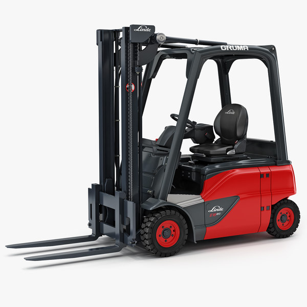 electric forklift linde e16 3D model