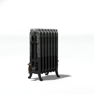old style radiator 3D