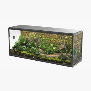 3D realistic terrarium