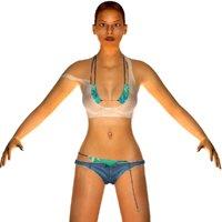 3D model realistic women aneetha