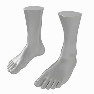 human male feet based 3D model